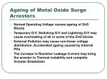 ageing of metal oxide surge arresters
