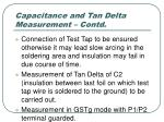 capacitance and tan delta measurement contd