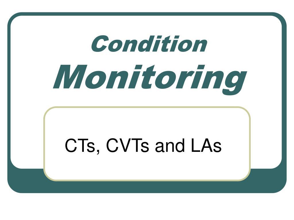 condition monitoring l.