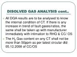 disolved gas analysis cont
