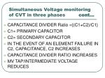 simultaneous voltage monitoring of cvt in three phases cont