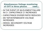 simultaneous voltage monitoring of cvt in three phases cont28