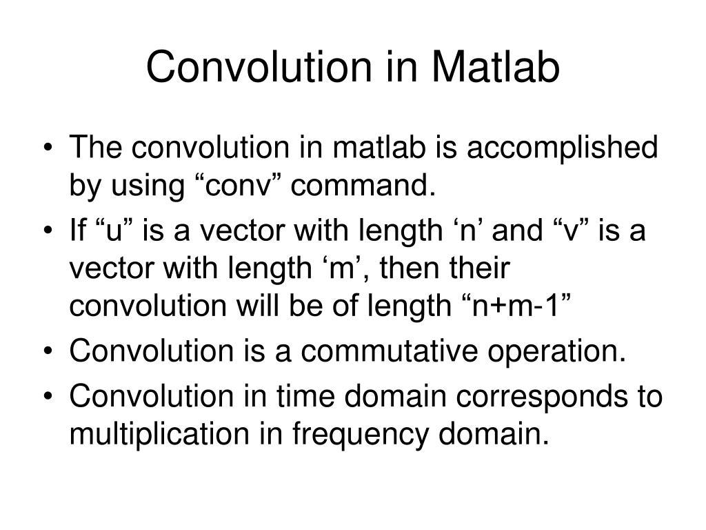 convolution in matlab l.