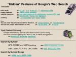 hidden features of google s web search