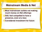 mainstream media net
