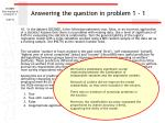 answering the question in problem 1 1