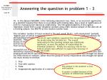 answering the question in problem 1 3