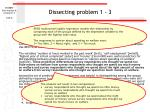 dissecting problem 1 3