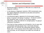 outliers and influential cases