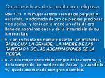 caracter sticas de la instituci n religiosa51