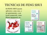 tecnicas de feng shui