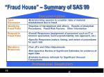 fraud house summary of sas 99