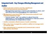 integrated audit key changes affecting management and auditor