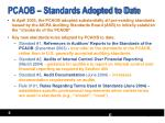 pcaob standards adopted to date