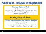 pcaob std 2 performing an integrated audit