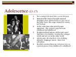 adolescence 13 17
