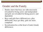 gender and the family