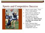 sports and competitive success