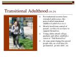 transitional adulthood 18 29