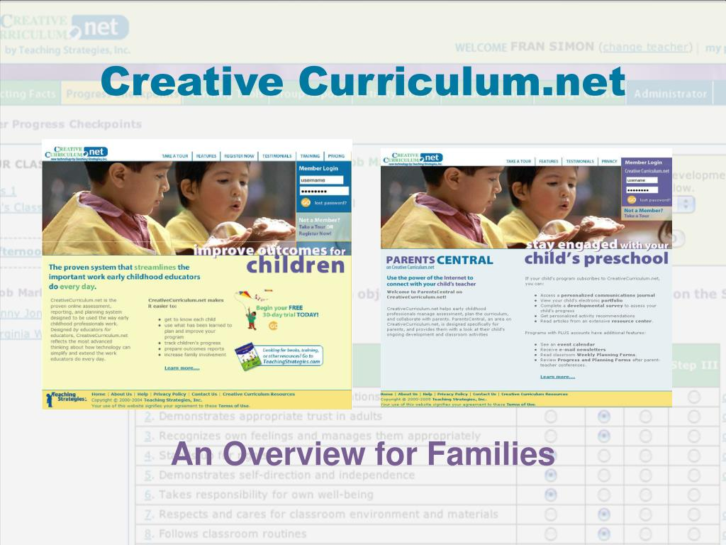 creative curriculum net l.