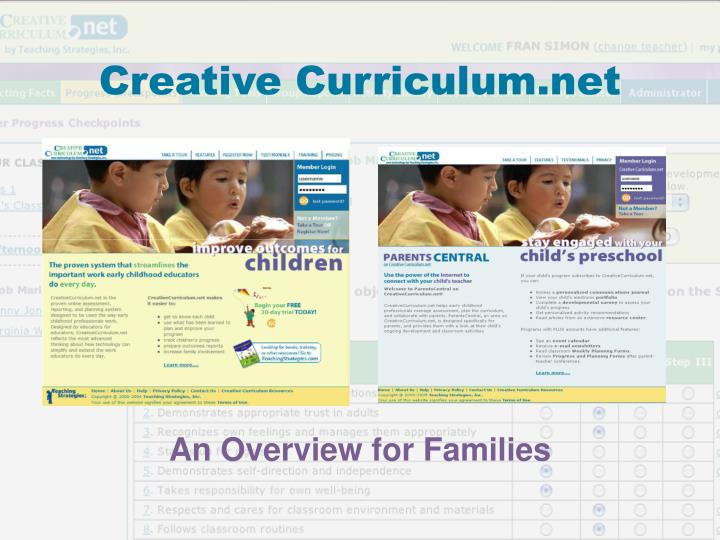 creative curriculum net n.