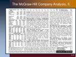 the mcgraw hill company analysis ii
