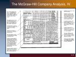 the mcgraw hill company analysis iv