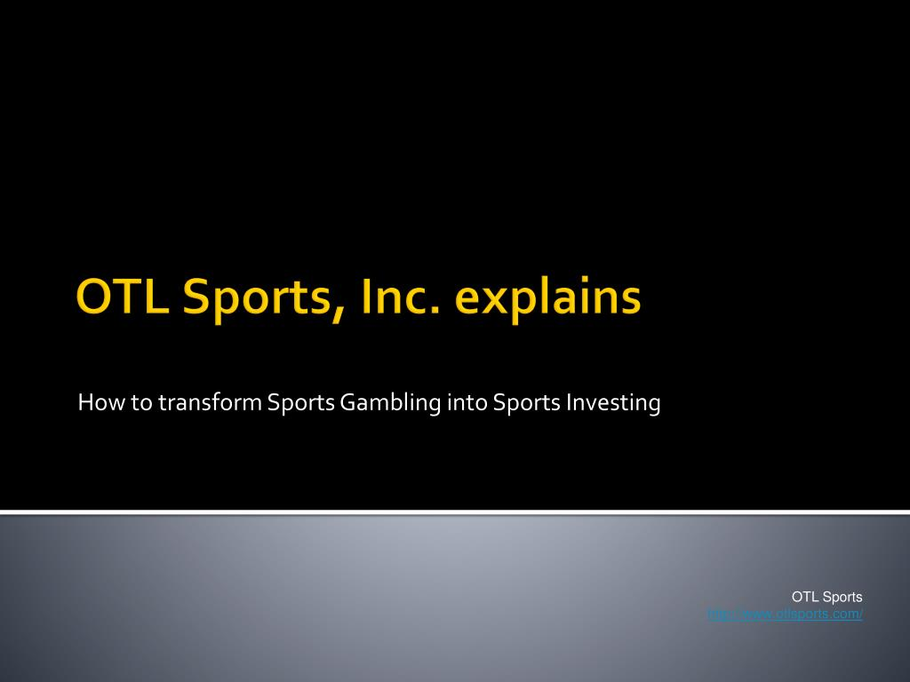 how to transform sports gambling into sports investing l.