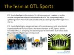 the team at otl sports