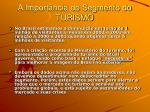 a import ncia do segmento do turismo6