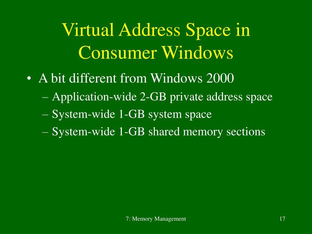 PPT - Inside Microsoft Windows 2000 7  Memory Management PowerPoint