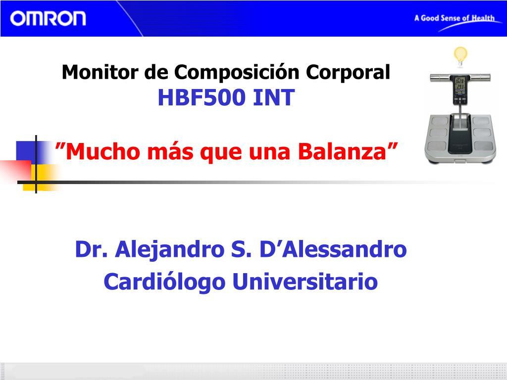 monitor de composici n corporal hbf500 int mucho m s que una balanza l.