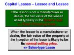 capital leases lessee and lessee