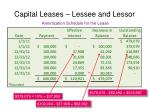 capital leases lessee and lessor