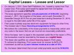 capital leases lessee and lessor41