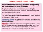 lessor s initial direct costs
