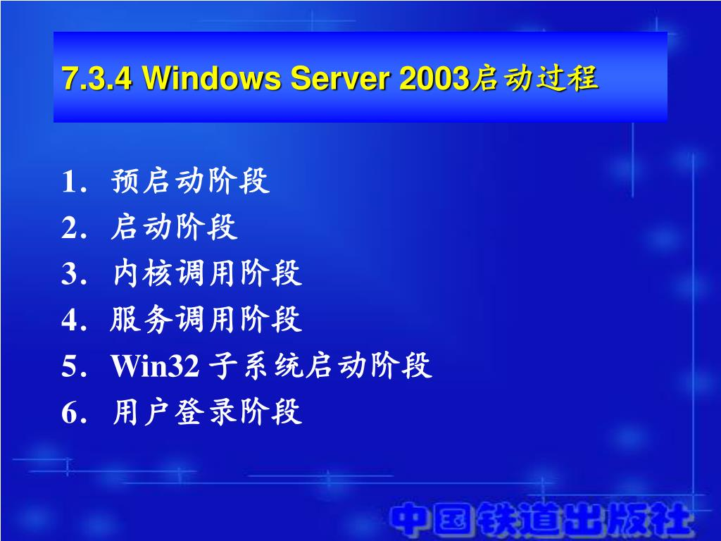 7.3.4 Windows Server 2003