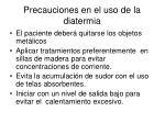 precauciones en el uso de la diatermia