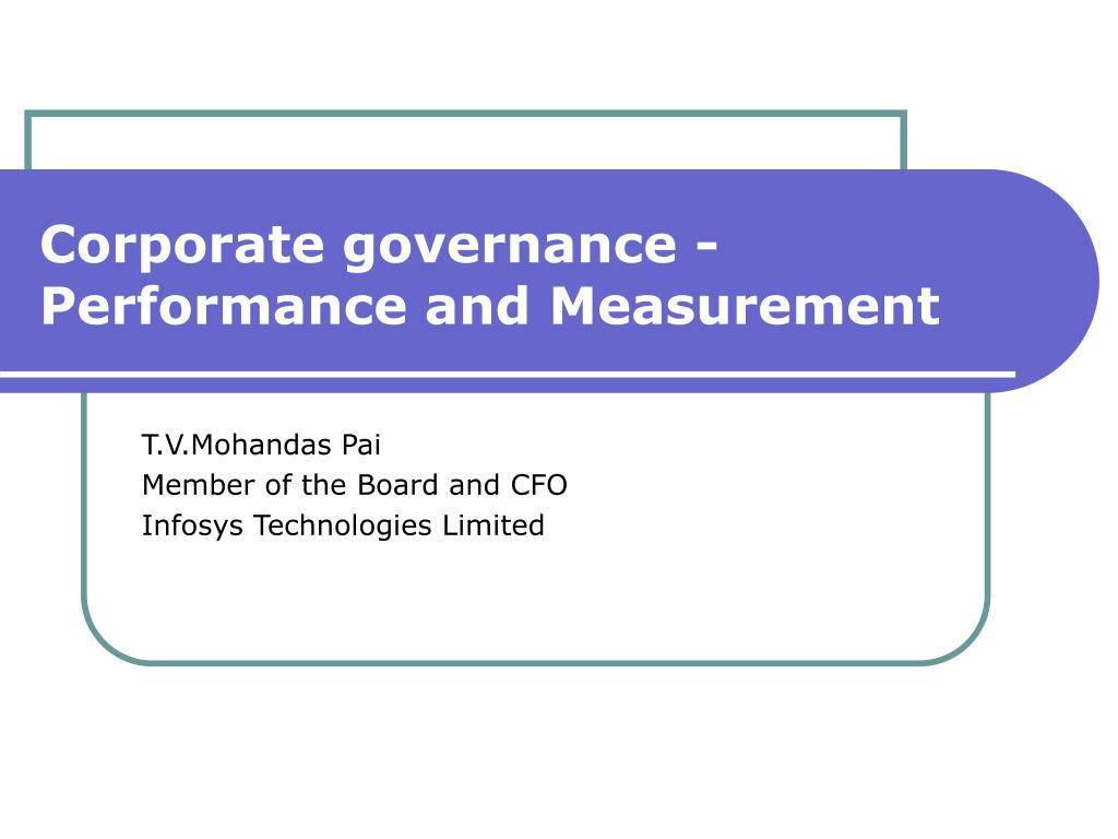 corporate governance performance and measurement l.