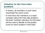 solution to the free rider problem