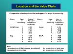 location and the value chain