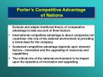 porter s competitive advantage of nations