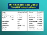 the automobile goes global the gm pontiac le mans