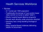 health services workforce16