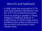 more eu and healthcare