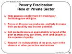 poverty eradication role of private sector