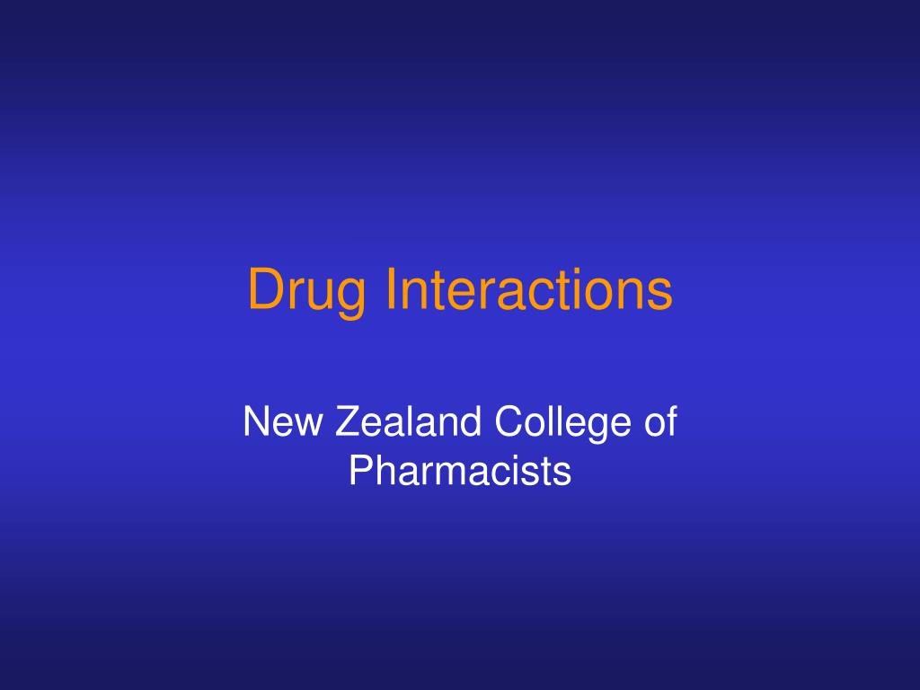 drug interactions l.