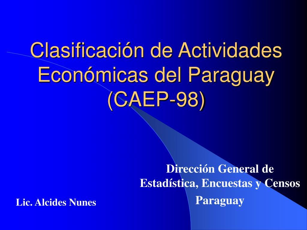 clasificaci n de actividades econ micas del paraguay caep 98 l.