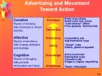 advertising and movement toward action