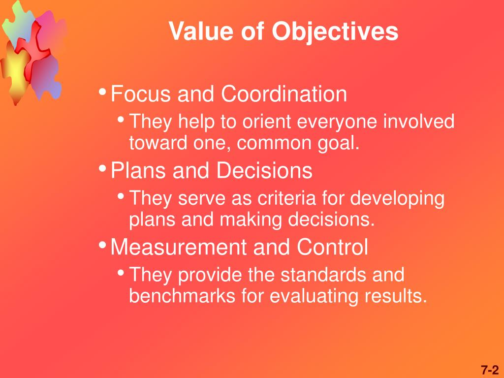 value of objectives l.